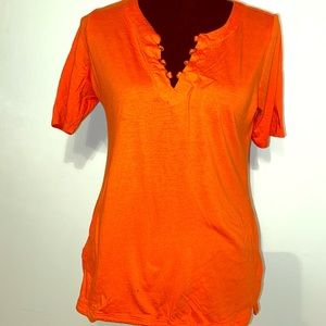 Bright Orange & Gold Michael Kors Top